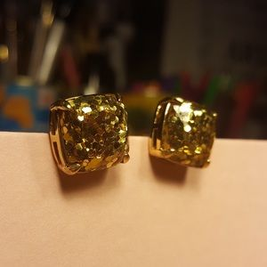 KATE SPADE Gold Glitter Earrings